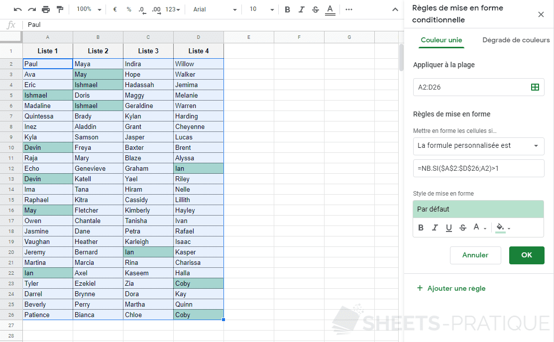 google sheets mfc doublons png