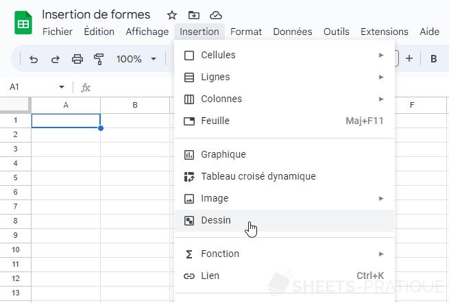 google sheets dessin png formes