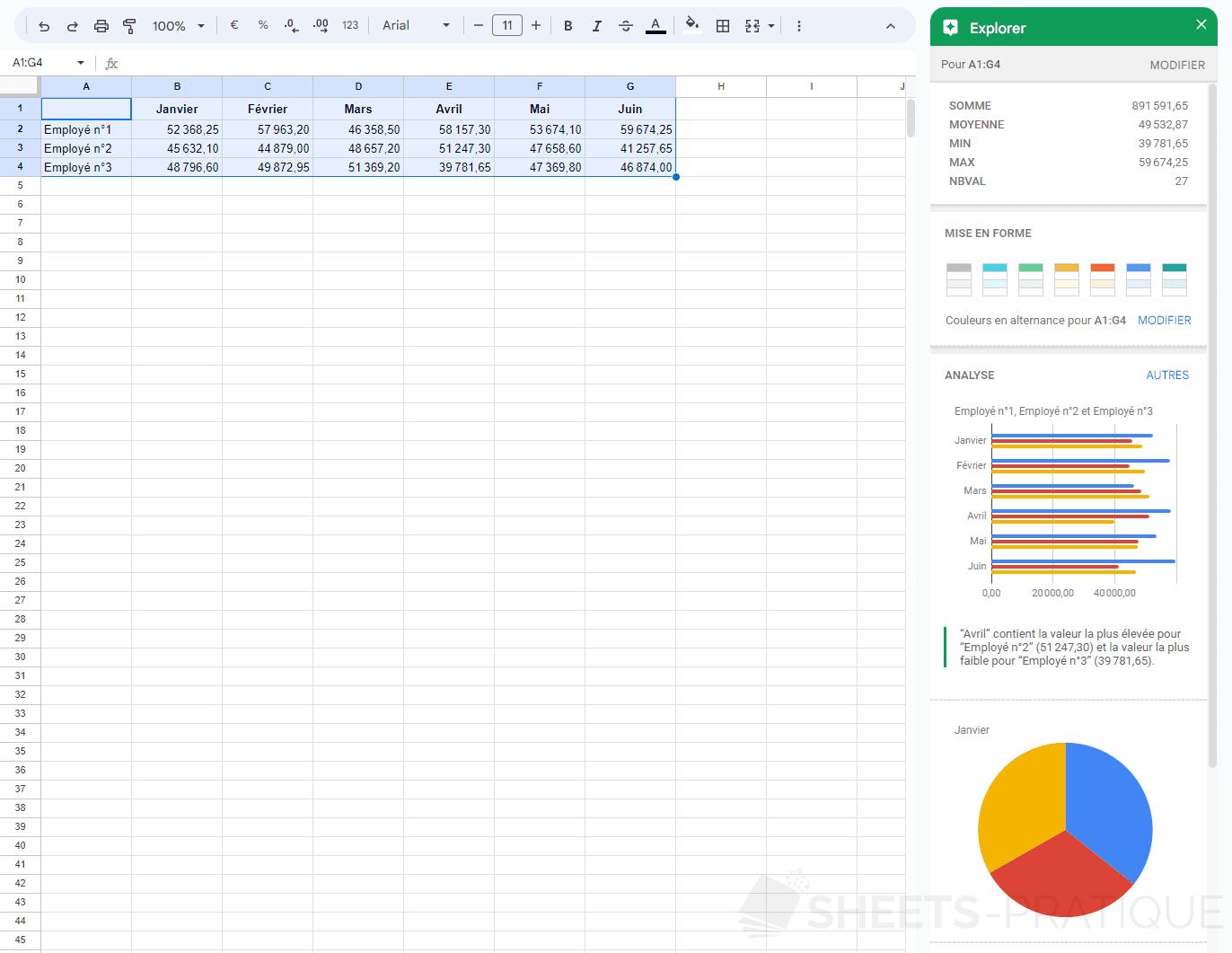google sheets explorer png graphiques