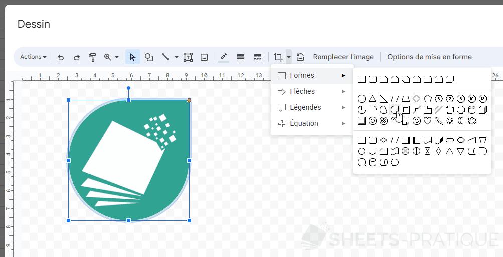 google sheets recadrer image forme png images
