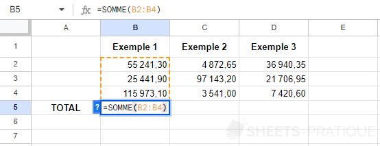google sheets recopie fonction formule