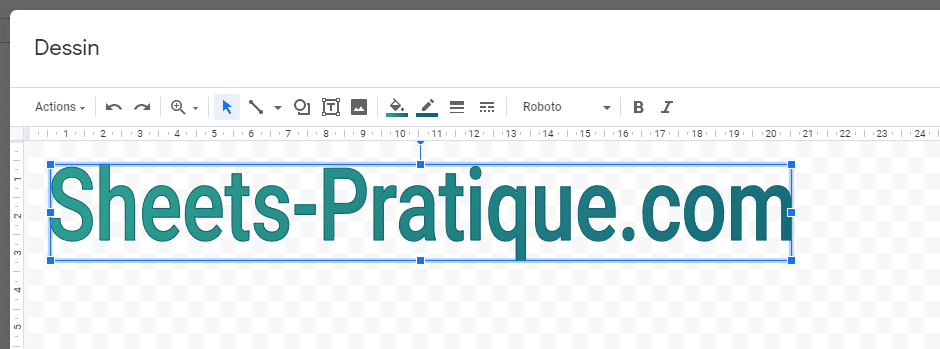 google sheets texte wordart degrade