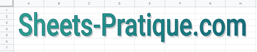 google sheets wordart texte