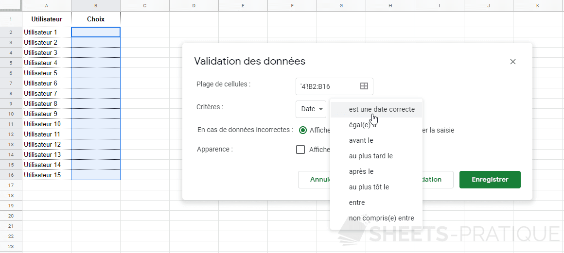 google sheets validation donnees date png