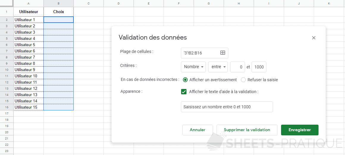 google sheets validation donnees nombre png