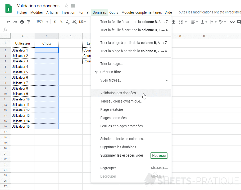 google sheets validation donnees png