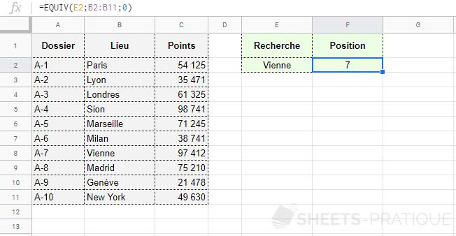 google-sheets-fonction-equiv-position - equiv