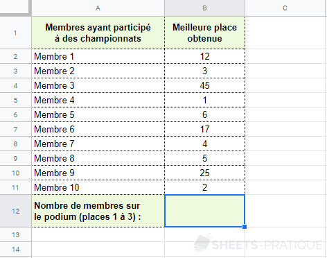 google sheets fonction nb si