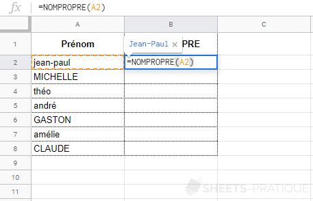 google-sheets-fonction-nompropre - nompropre