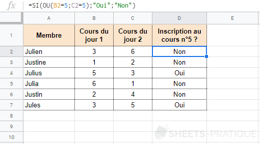 google-sheets-fonction-ou-si - ou