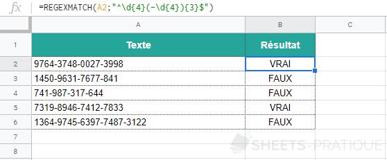 google sheets fonction regexmatch parentheses 3