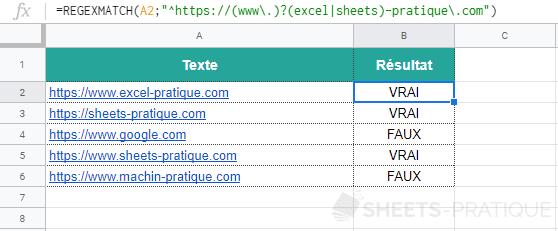 google sheets fonction regexmatch url site 3