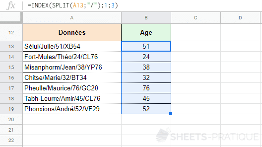 google-sheets-fonction-split-index - split