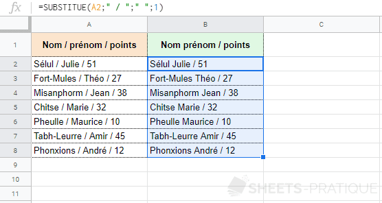 google-sheets-fonction-substitue-occurence - substitue
