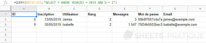 google-sheets-fonction-query-date-year - fonctions-scalaires