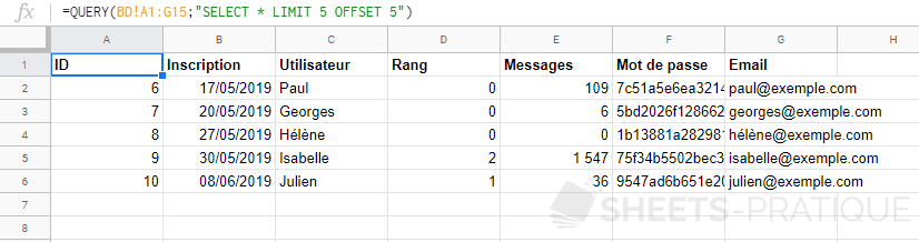 google-sheets-fonction-query-limit-offset - limit